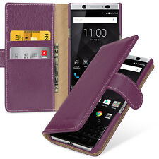 TETDED Premium Leather Case for BlackBerry KEYone Gerzat (LC: Purple) Book Case