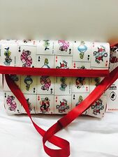 New HARVEYS Foldover Disney  / Queen of Hearts Alice in Wonderland Crossbody bag