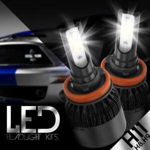 H11 LED Headlight Low Beam Bulbs Kit for Nissan 2007-16 Altima/ 2013-16 Sentra