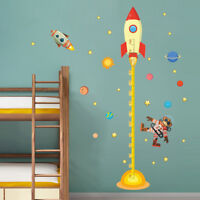 Kids Planets Space Rocket Height Measure Chart Home Wall Sticker Room Hot#c Top