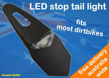 LED Stop Tail Number Plate Light to suit DRZ250 DRZ400 RMX250 12V