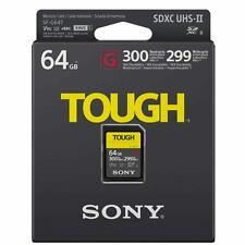 Sony SF-G TOUGH 64GB SDHC SDXC SD Flash Card U3 4K UHS-II V90 Class 10 300MB/s