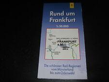 Fahrradkarte Tourenkarte Radwanderungen: Rund um Frankfurt