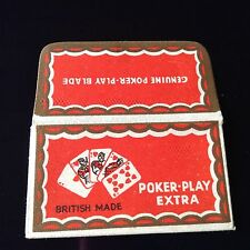 VINTAGE RAZOR BLADE & WRAPPER 'POKER PLAY' BRITISH'