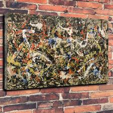 "Jackson Pollock convergenza ASTRATTO STAMPA FOTO SU TELA A1.30""x20"" 30mm Deep"