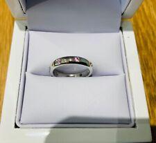 Vintage 18ct White Gold & Pink Topaz Etoile Style Full Eternity Ring UK Size I
