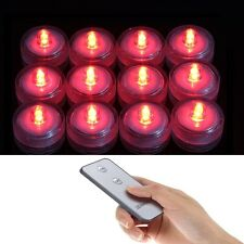 12 RED Submersible Led lights floralytes candles for centerpiece decor w/REMOTE