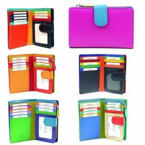 Golunski 7-141 Leather RFID Protected Ladies Multi Coloured Purse,Wallet