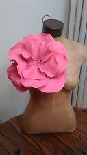 Mothers Day Hot Pink Felt Over sized Rosette Flower Magnet Pin Brooch