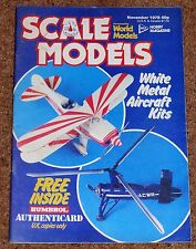 SCALE MODELS Nov 1978 - HP Victor Mk2, Early Griffon Spitfires, Space Shuttle