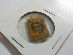 Antique Vintage SWEET MARIE SPARGER BROS MT AIRY NC TOBACCO TAG Tin Advertising