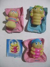 Lot of 3 Vintage Glo Friends Glo WormsButterfly Snugbug Glo Bug w/Sleeping Bags