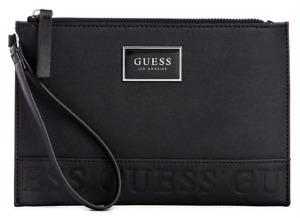 NEW GUESS Alva Womens Wristlet Clutch Bag Handbag Pouch Wallet Black BNWT