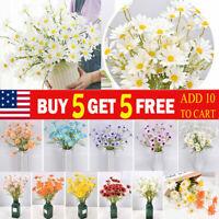 5 Heads Artificial Daisy Flower Plant Bouquet Bride Wedding Party Garden Home