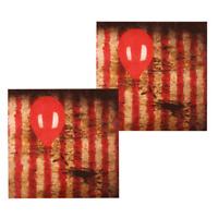 HALLOWEEN IT PENNYWISE LUNCH NAPKINS PARTY DECORATION CLOWN CREEPY CARNIVAL