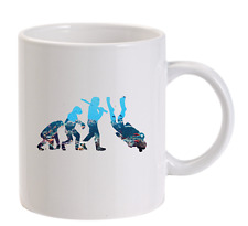 Evolution of Diving Personalised Funny Mug Scuba Spearfishing Mens Dive Gift