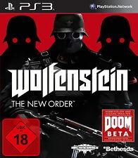 PS3 / Sony Playstation 3 Spiel - Wolfenstein: The New Order (mit OVP)(USK18)