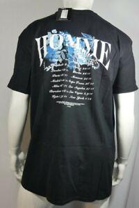 Mens Plus Size Homme Floral Back Print T-Shirt Size 2XL-4XL Black MTJul31-03