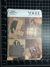 Vogue #7653 ~ Pattern Accessories Garment Bag Tote Purse Handbag ~ FF UC