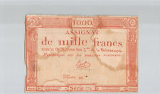 Assignat 1000 Francs 18 Nivôse An 3 Série 774 n° 86 Pick A80