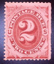 US J23 2c Postage Due No WM  Bright Claret MOGNH SCV $100
