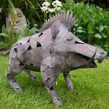 Hog Patio Ornamental Metal Pig Garden Lawn Wild Boar Decor Sculpture
