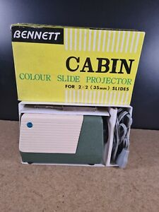 Bennett Cabin Colour Slide Projector For 2 X 2 35mm Slides Boxed Very Clean