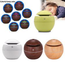 130ML Aroma Essential Oil Diffuser Wood Grain Ultrasonic Aromatherapy Humidifier