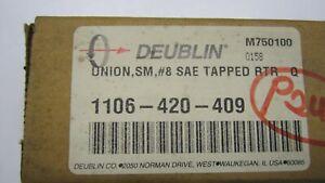 Deublin rotary union, 1106-420-409, SM, #8 SAE Tapped RTR Q NEW