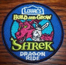 """Lowe's Build and Grow Shrek """"Dragon Ride"""" Iron on patch"""