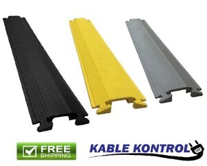 "5.25"" Width Kable Kontrol 1 Channel Medium Duty Rubber Drop Over Cord Covers"