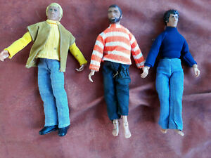 """STARSKY & HUTCH with CHOPPER 1974 MEGO Vintage 8"""" Action Figures with clothes"""