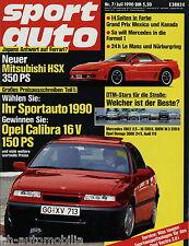 sport auto 7/90 1990 Alfa Spider 2.0 Duetto 1600 Mitsubishi 3000 GT Toyota MR2
