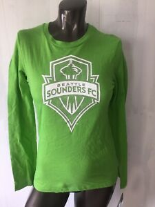 Youth MLS Adidas Seattle Sounders FC Green Long Sleeved Shirt Large 14