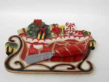 """Fitz And Floyd Christmas """"Yuletide Traditions"""" Plate With Matching Spreader"""