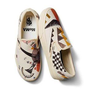 RARE Vans x MoMA Classic Slip On Art Vasily Kandinsky Mens 9 Womens 10.5 New