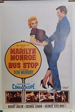 1956 Bus Stop Single Sided Reprint 26x30 Movie Poster Marilyn Monroe Don Murray