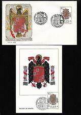 Año 1966 Edifil 1704 Escudo España Sobre y Tarjeta Primer Día