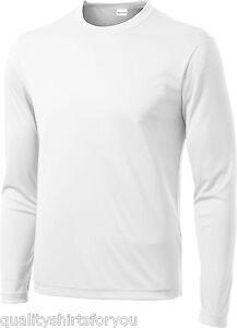 Mens Moisture Wicking Dry Long Sleeve dri-fit Running T-shirts S-4XL NEW ST350LS