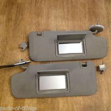 2008-2012 Chevy Malibu OEM Non-Lighted Mirror Sunvisor Visor Set w/clips Grey