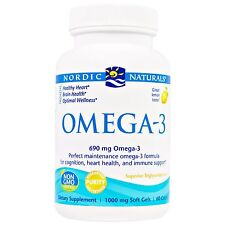 Nordic Naturals, Omega-3, Lemon, 1,000 mg, 60 Soft Gels