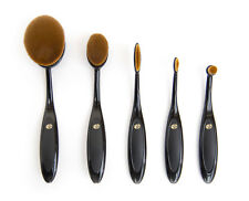 Rio Make-up Contour Foundation Microfibre Oval Cosmetic Brush Collection Set