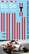 1/12 Marco Simoncelli Test Bike Sepang Honda RC212V 2010 Decals TB Decal TBD252