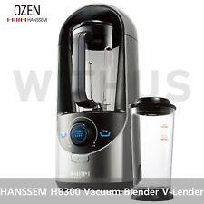 HANSSEM OZEN HAF-HB300 Vacuum Blender Juicer Extractor V-Lender-220V(Silver/Red)
