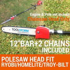 "POLESAW CHAINSAW HEAD REPLACEMENT W/12""BAR+2CHAIN BRUSHCUTTER FIT STIHL"