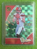 BAKER MAYFIELD ROOKIE CARD PRIZM RC 2018 Panini - Donruss Baker Mayfield #R-3 SP