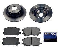 Rear Ceramic Brake Pad Set & Rotor Kit for 2004 Subaru Impreza OUTBACK-RS-TS-WRX