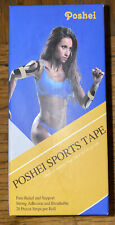 Poshei New In Box Nib Sports Tape 20 Pre Cut Strips Kinesiology 3 Rolls 2� 16.5'