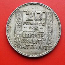 "France-Frankreich: 20 Francs 1933 Silber, KM# 879, Ss-VF, ""P.Turin"", #F# 445"