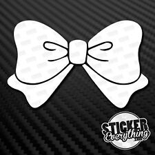 BOW VINYL STICKER DECAL CUTE HELLO KITTY CAR GIRLY CHICK  BAD GIRL FEMALE DRIVER